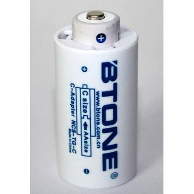 """Переходник с пальчикового аккумулятора (""""АА"""") на """"С"""" аккумулятор от Btone"""