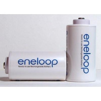 """Переходник с пальчикового аккумулятора (""""АА"""") на """"С"""" аккумулятор Eneloop"""