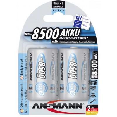 Аккумуляторы Ansmann maxE D 8500mAh - 2 шт. упакованные в блистер.