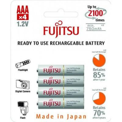 ААА аккумуляторы Fujitsu 800 mAh (min 750 mAh) в блистере, версия HR-4UTC EX. 2100 циклов. Аналог Eneloop. Цена за уп. 4 шт.