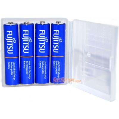 Минипальчиковые аккумуляторы Fujitsu 800 mAh (min 750 mAh) Blue, версия HR-4UTI в боксе. Цена за уп. 4 шт.