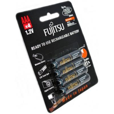 Минипальчиковые AAA аккумуляторы Fujitsu 950 mAh (min 900 mAh) в оригинальном блистере.HR-4UTHCEX 4B. Цена за уп. 4 шт.
