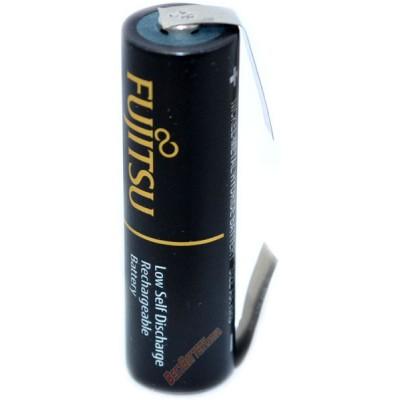 Пальчиковые аккумуляторы Fujitsu Pro 2550 mAh (min 2450 mAh) c лепестками (под пайку) AA. Цена за 1 шт.