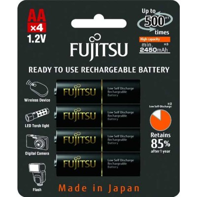 Пальчиковые AA аккумуляторы Fujitsu Pro 2550 mAh (min 2450 mAh) в блистере (HR-3UTHC). Аналог Panasonic Eneloop Pro. Цена за уп. 4 шт.