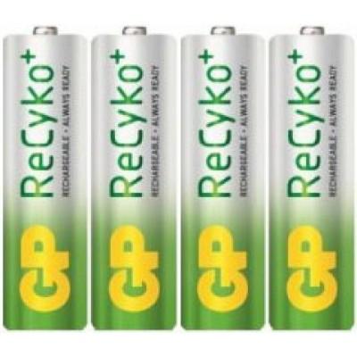 GP ReCyko 2000 mAh - пальчиковые аккумуляторы с низким саморазрядом от GP. Цена за уп. 4 шт.
