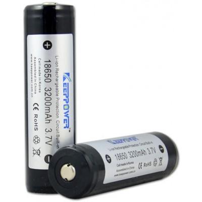 Li-Ion аккумулятор KeepPower 18650, ёмкостью 3200 mAh с платой защиты (внутри Корейский элемент LG).