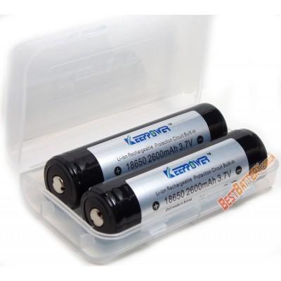 Keeppower 2600 mAh Li-ion аккумулятор форм-фактора 18650 с защитой.