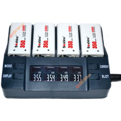 Ni-Mh LSD аккумуляторы типа Крона Soshine 9V 350 mAh. Низкосаморазрядные.