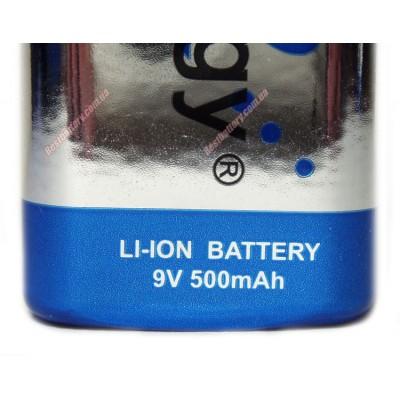 Tenergy Крона 9V 500 mAh Li-Ion - литиевый аккумулятор Крона ёмкостью 500 mAh.