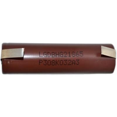Высокотоковый Li-Ion аккумулятор LG HG2 3000 mAh 20A (30А) с лепестками под пайку.