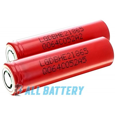 LG HE2 18650 2500 mAh 20A, 3,7В (4,2В). Высокотоковый Li-ion аккумулятор. Оригинал - Korea.