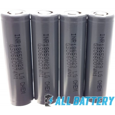 LG INR18650 M29 2850 mAh Li-ion 3,7V без защиты, 6A (10A). Оригинал.