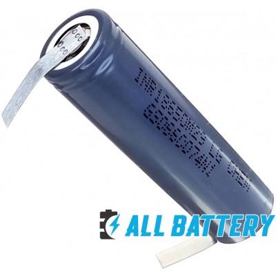 Аккумулятор 18650 LG INR18650 M29 2850 mAh Li-ion 3,7V, 6A (10A) Solder Tags. С лепестками под пайку.