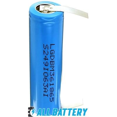 Аккумулятор 18650 LG INR18650 M36 3600 mAh Li-ion 3.7В (4.2В) 10A Solder Tags. С лепестками под пайку.