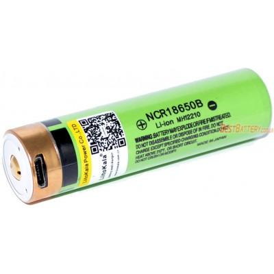 Li-Ion аккумулятор Liitokala 18650 3400 mAh 34B USB 3,7V с USB зарядным устройством. Protected.