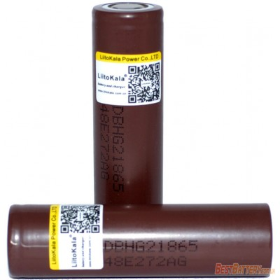 Li-Ion аккумулятор Liitokala 3000 mAh Lii-HG2 3,7V, без защиты (промышленный), высокотоковый 20А (30А).