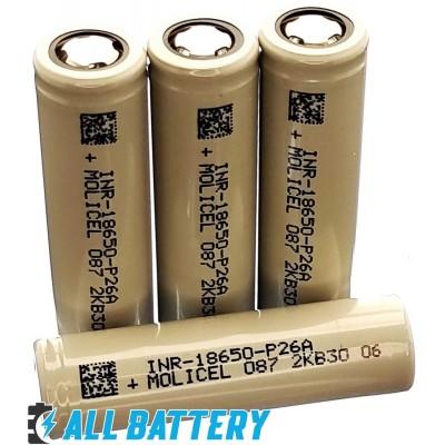 Аккумулятор 18650 Molicel P26A 2600 mAh Li-Ion INR, 3.7В, 35А, Высокотоковый (аналог Sony/Murata VTC5A). Оригинал!