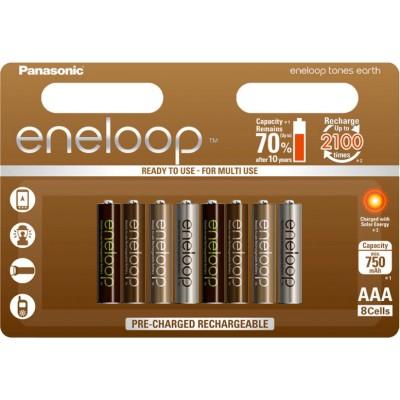 AАА аккумуляторы Panasonic Eneloop Earth 800 mAh (min 750) BK-4MCCE/8UE. Цена за уп. 8 шт.