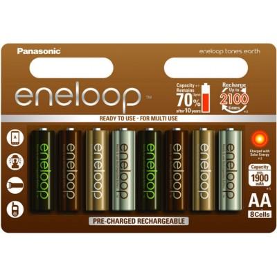 АА аккумуляторы Panasonic Eneloop Earth 2000 mAh (min 1900 mAh) BK-3MCCE/8UE. Цена за уп. 8 шт.