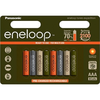 AАА аккумуляторы Panasonic Eneloop Expedition 800 mAh (min 750). Цена за уп. 8 шт.