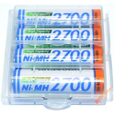 Panasonic 2700 mAh (BK-3HGAE) - АА Ni-MH аккумуляторы повышенной ёмкости от японского производителя в боксах. Цена за уп. 4 шт.