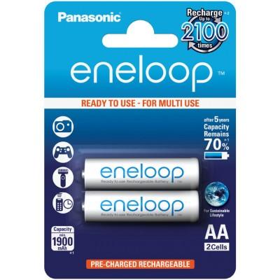 Аккумуляторы Panasonic Eneloop AA 2000 mAh (min 1900 mAh) BK-3MCCE/2BE в картонном блистере. Цена за уп. 2 шт.