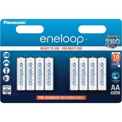Panasonic Eneloop AA 2000 mAh (min 1900 mAh) BK-3MCCE 8BE 8 шт. в блистере. Цена за уп. 8 шт.
