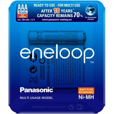 Panasonic Eneloop 800 mAh (min 750 mAh) BK-4MCCE/4LE - AAA аккумуляторы Eneloop 4 поколения в блистере. Цена за уп. 4 шт.