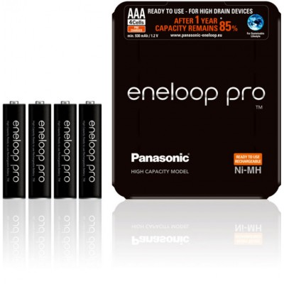 Минипальчиковые аккумуляторы Panasonic Eneloop Pro ААА 980 mAh (min. 930 mAh) BK-4HCDE 4LE. Цена за уп. 4 шт.