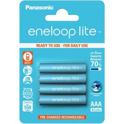 Panasonic Eneloop Lite 600 mAh (min 550 mAh) BK-4LCCE / 4BE - ААА аккумуляторы, выдерживающие до 3000 циклов заряд/разряд. Цена за уп. 4 шт.
