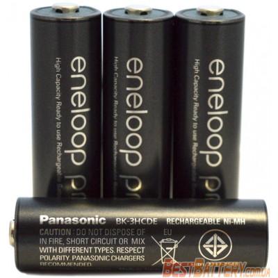 Пальчиковые аккумуляторы Panasonic Eneloop Pro 2600 mAh (min. 2500 mAh) АА (BK-3HCDE) поштучно. Цена за 1 шт.