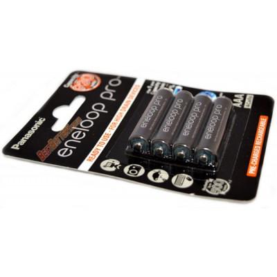 Минипальчиковые аккумуляторы Panasonic Eneloop Pro ААА 980 mAh (min. 930 mAh) BK-4HCDE повышенной ёмкости. Цена за уп. 4 шт.