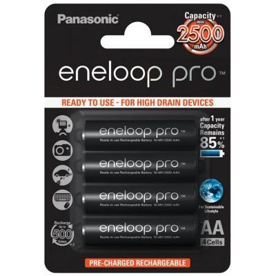 Panasonic Eneloop Pro 2600 mAh (min 2500 mAh) BK-3HCDE/4BE (min. 2500 mAh) новое поколение аккумуляторов Eneloop Pro. Упаковка - блистер. Цена за уп. 4 шт.