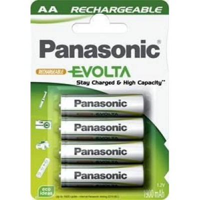 АА аккумуляторы Panasonic Panasonic Evolta 1900 mAh в блистере. Готовы к работе из упаковки. Цена за уп. 4 шт.