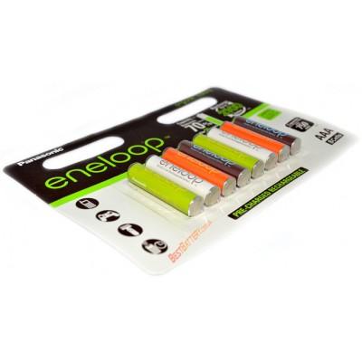 AАА аккумуляторы Panasonic Eneloop Organic Colors 800 mAh - новинка 2015 г. (8 аккумуляторов в блистере).