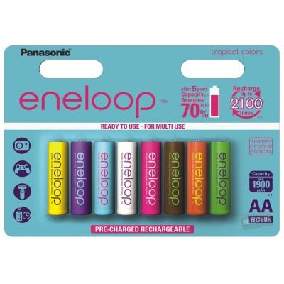 Panasonic Eneloop Tones Tropical 2000 mAh - АА аккумуляторы Eneloop 4-го поколения, выпускаемые в 8 ярких цветах.