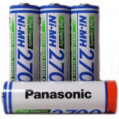 Пальчиковые АА аккумуляторы Panasonic 2700 mAh (BK-3HGAE) Ni-MH аккумуляторы повышенной ёмкости, без упаковки. Цена за 1 шт.