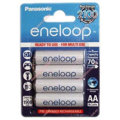 Panasonic Eneloop AA 2000 mAh (min 1900 mAh) BK-3MCCE 4BE 4 поколение аккумуляторов Eneloop в блистере. Цена за уп. 4 шт.