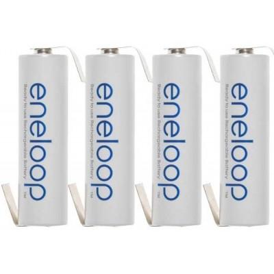Пальчиковые аккумуляторы Panasonic Eneloop 2000 mAh (min 1900 mAh) c лепестками (под пайку). Цена за 1 шт.