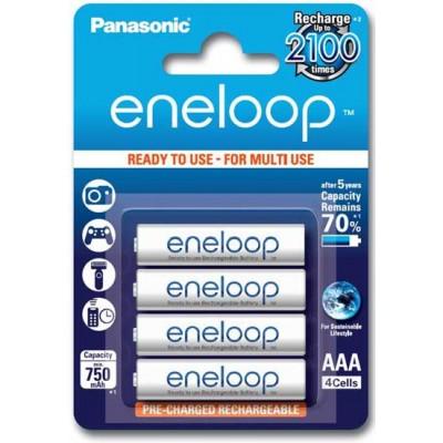 Panasonic Eneloop 800 mAh (min 750 mAh) BK-4MCCE - минипальчиковые аккумуляторы Eneloop 4 поколения в блистере. Цена за уп. 4 шт.
