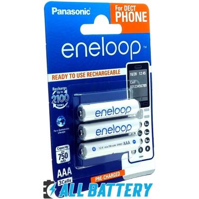 Panasonic Eneloop 800 mAh (min 750 mAh) BK-4MCCE/3DE - набор для радиотелефона. AAA. Цена за уп. 3 шт.