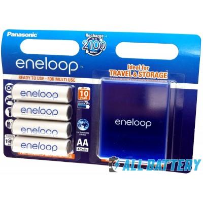 Panasonic Eneloop 2000 mAh (min 1900 mAh) BK-3MCCE/4BE в блистере + фирменный Бокс. (AA). Цена за уп. 4 шт. с боксом.