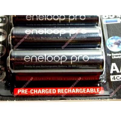 Panasonic Eneloop Pro AA 2550 mAh (min 2450 mAh) BK-3HCCE японские аккумуляторы Eneloop 4-го поколения в оригинальном блистере. Цена за уп. 4 шт.