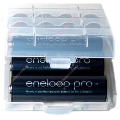 Зарядное устройство Soshine SC-U1 и 4 пальчиковых аккумулятора Panasonic Eneloop Pro 2600 mAh (BK 3HCDE) в боксе.
