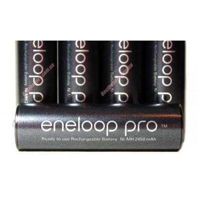 Комплект: 4 пальчиковых аккумулятора Panasonic Eneloop Pro 2550 mAh и зарядное устройство Tenergy TN138.