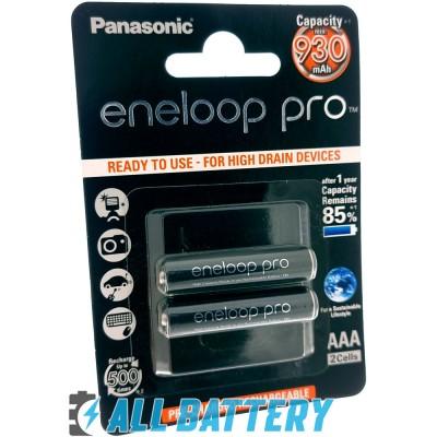 Panasonic Eneloop Pro 980 mAh (min. 930 mAh) BK-4HCDE/2BE, 2 шт. в блистере. (AAA). Цена за уп. 2 шт.