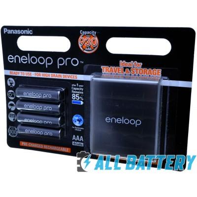 Panasonic Eneloop Pro 980 mAh (min. 930 mAh) BK-4HCDE/4BE в блистере c Боксом Eneloop. Цена за уп. 4 шт. + Бокс.