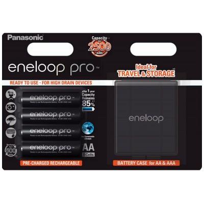 Panasonic Eneloop Pro 2600 mAh (min 2500 mAh) BK-3HCDE 4BE, упаковка - блистер + фирменный бокс. Цена за уп. 4 шт. + Бокс.