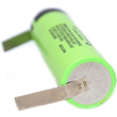 Li-Ion аккумулятор Panasonic NCR18650B 3400 mAh с лепестками под пайку, без защиты, 18650.