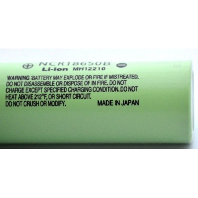 Промышленный Li-Ion аккумулятор Panasonic NCR18650B 3400 mAh без защиты, 18650.